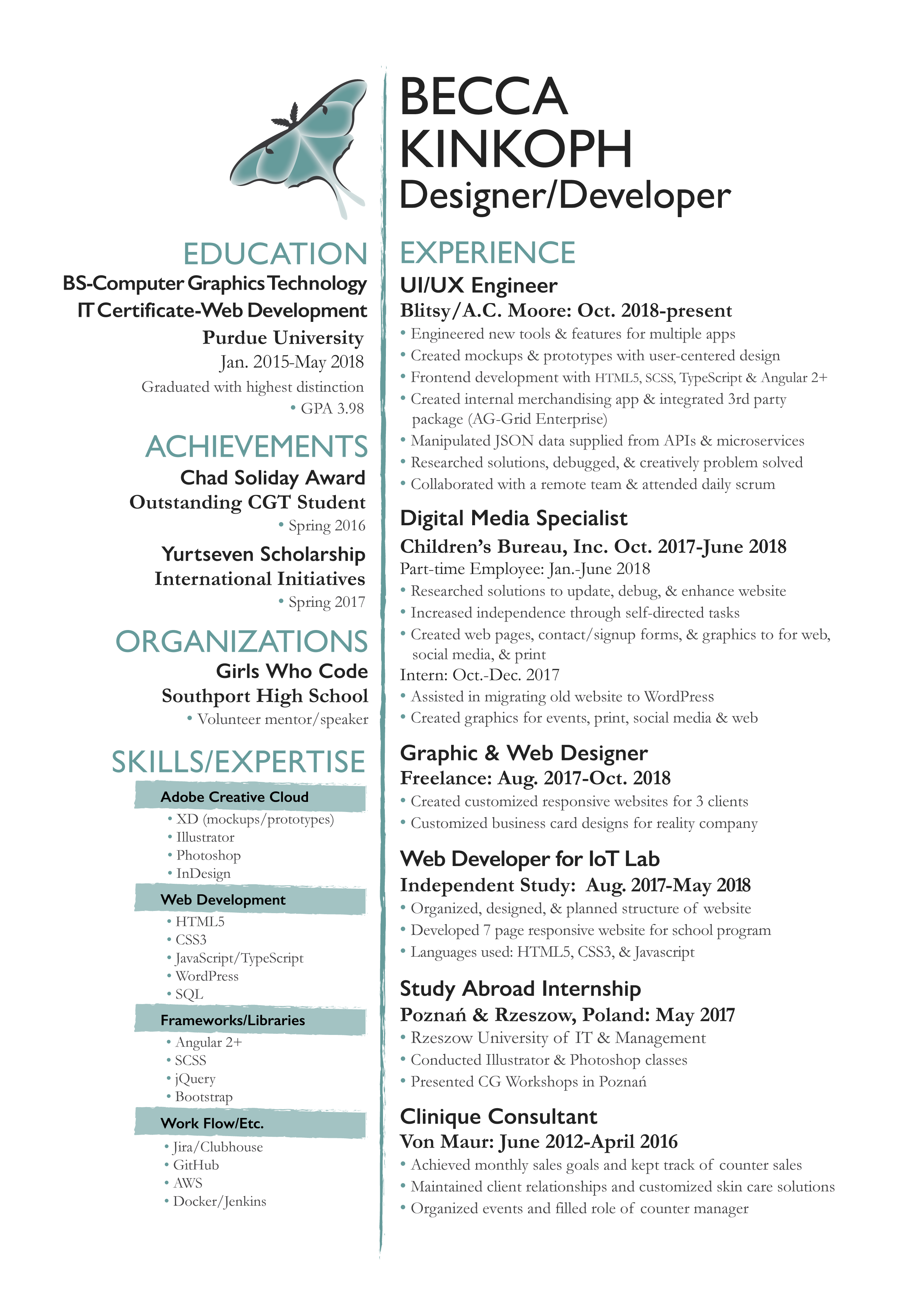 Resume Becca Kinkoph